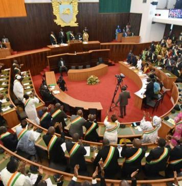 Les députés lors de la rentrée parlementaires © Rfi-CI