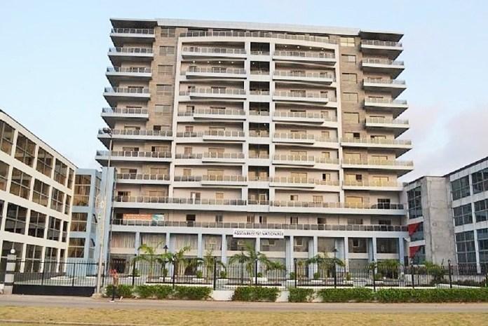 Le nouvel immeuble abritant provisoirement les services de l'Assemblée nationale. © Gabonreview