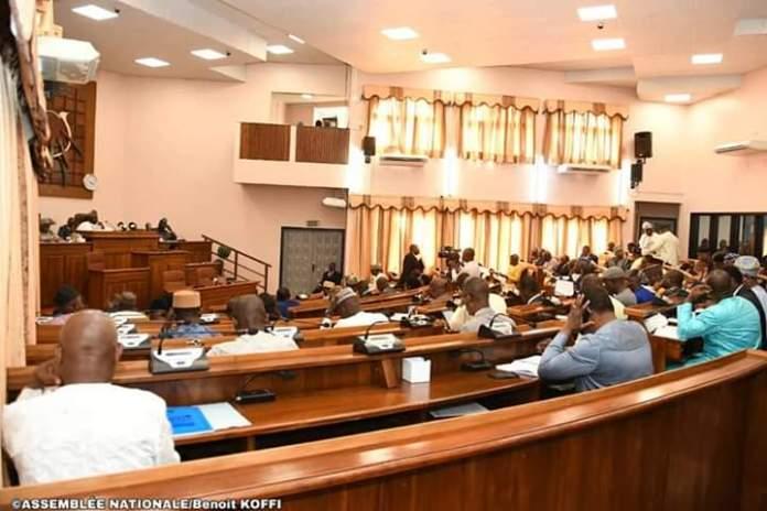 Des députés béninois en plénière à l'hémicycle au palais des gouverneurs à Porto-Novo © AN / HA