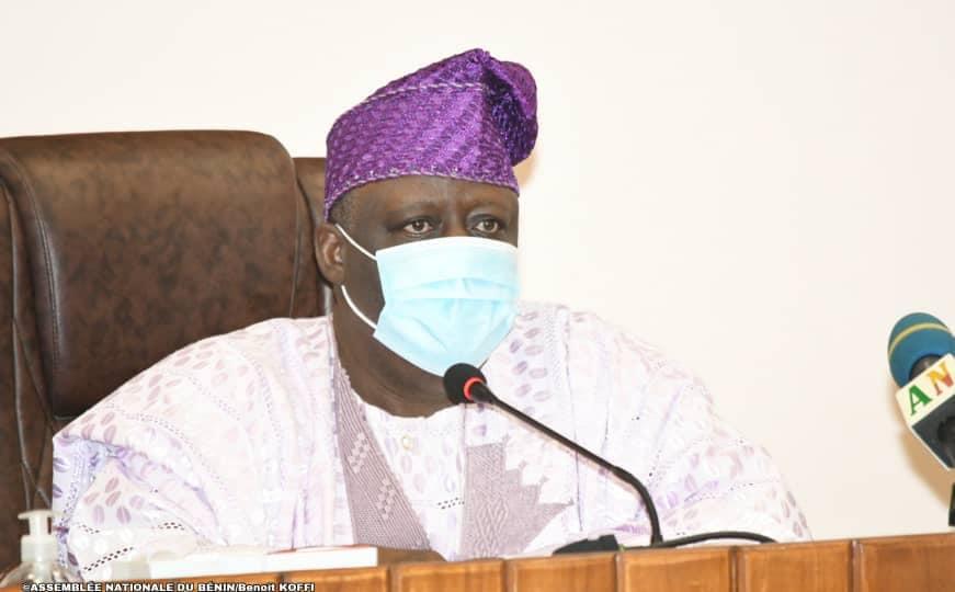 Louis Vlavonou, président de l'Assemble nationale du Bénin, ce mardi 1er septembre 2020 © Parlement