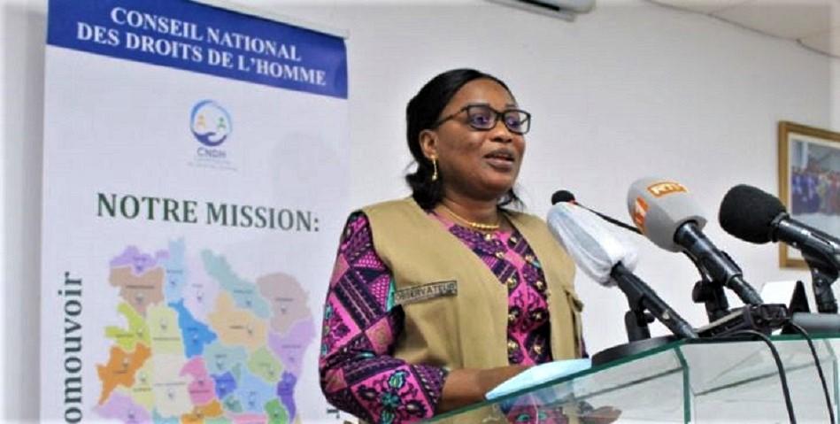 Namizata Sangaré, présidente du Conseil national des droits de l'homme (CNDH) © APA/Saliou Amah