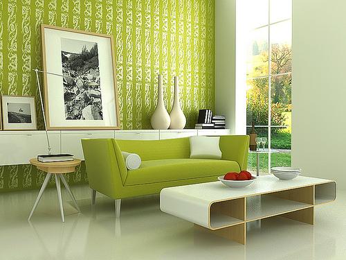 Grönt är en harmonisk färg.