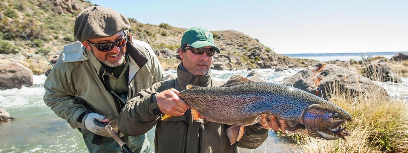Barrancoso River Fly Fishing Access Lago Strobel