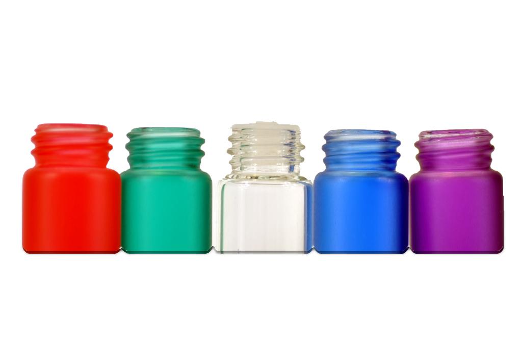 Rainbow Glass Vials 144pcs