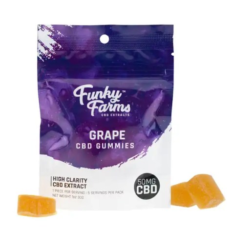Funky Farms - CBD Infused Gummy - Grape