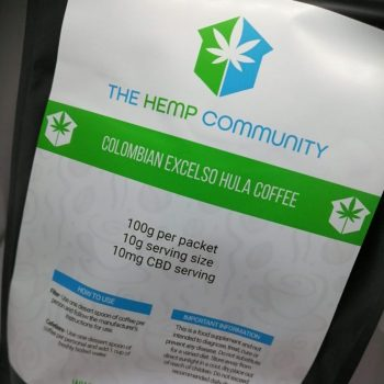 CBD infused Ground Coffee from The Hemp Community