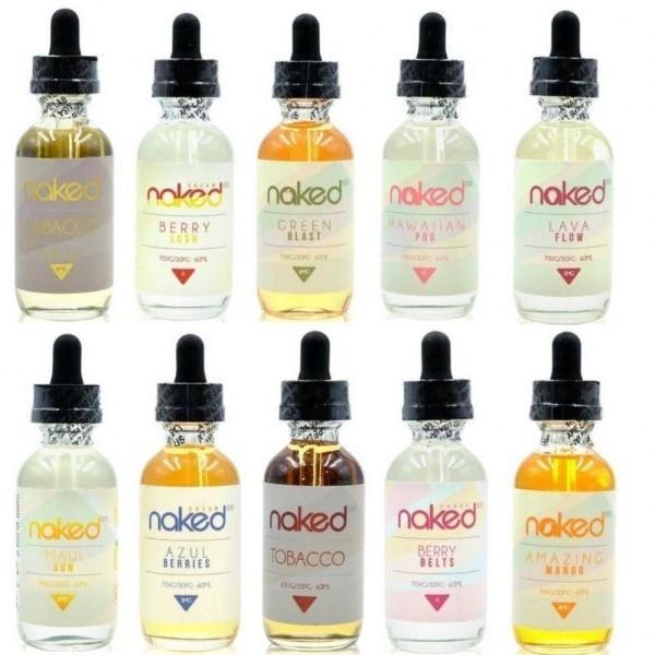 naked e-liquid range