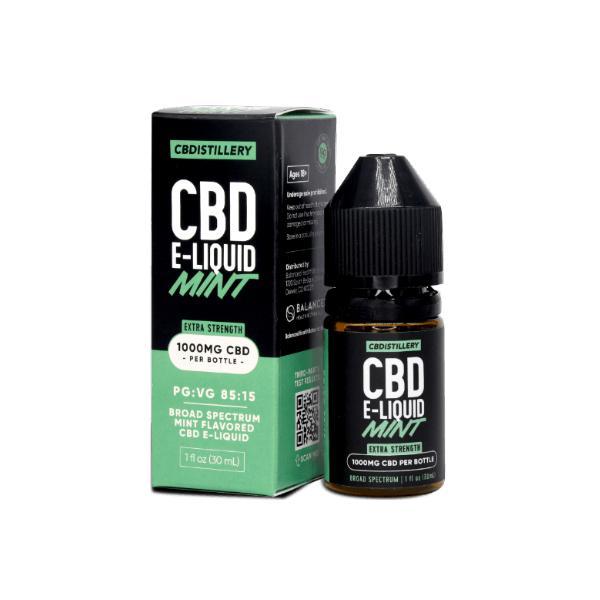 CBDistillery CBD E-Liquid 1000mg in 30ml bottle