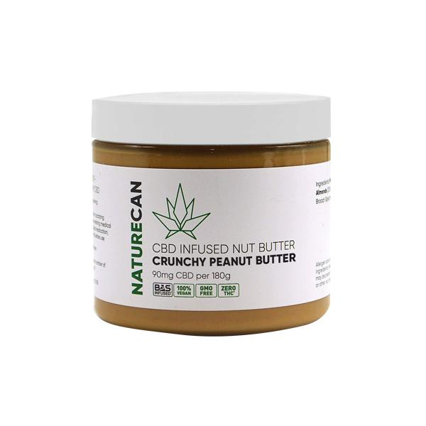 CBD PEANUT BUTTER ON WHITE BACKGROUND