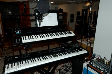 Mike's keyboard station