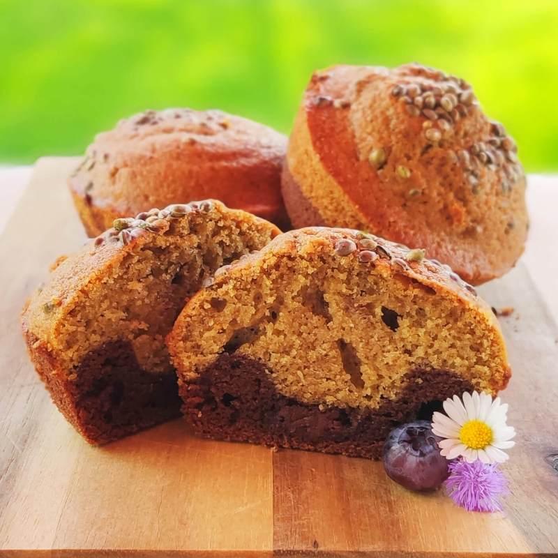 Hanfprotein Marmor Muffins