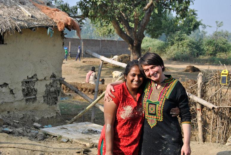 Hempoint CEO Hana Gabrielova with Nivedita Bansal Shah, Shah Hemp Inno-Ventures, Kathmandu