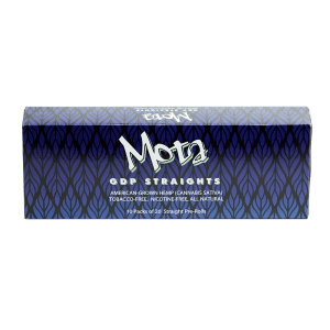 Bhang hemp preroll Mota Straights carton top angle
