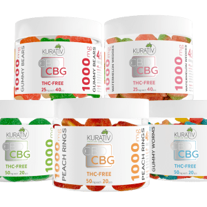 Kurativ CBD Gummies 4 1 1000mg Group