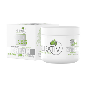 Kurativ 10 1 THC Free CBD Cream Unscented 3300mg