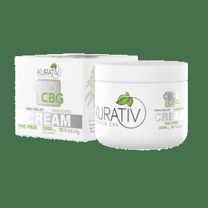 Kurativ 10 1 THC Free CBD Cream Unscented 3300mg