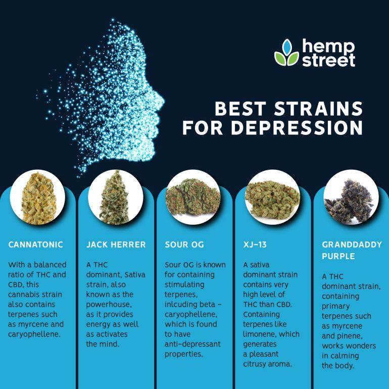 Best Cannabis Strains for Depression