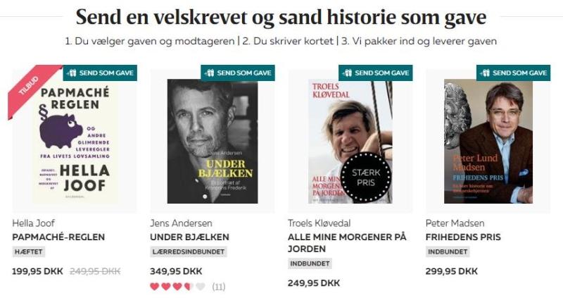 Send en gave - Bog&Idé - Bogfinken.dk