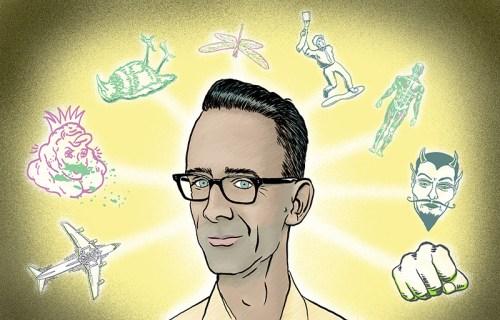 Promo illustration of Chuck Palahniuk