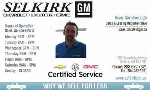 Selkirk GM – Sean Cornborough