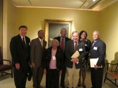 Seen & Heard: Panelists from left to right: Dr. Lanman, John Gartrell, Dr. Hicks, Larry Gibson, Bill Zorzi, Dr. Scott, & Dr. Sanders.