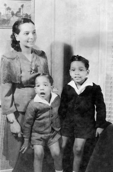 Juanita Jackson Mitchell with sons Clarence Mitchell III and Keiffer Mitchell. Paul Henderson, circa 1942. Maryland Historical Society, HEN.00.B1-092.