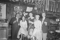 Interior of unidentified bar. Promotional photograph for Hals Beer, circa 1953. Paul Henderson, HEN.00.A1-013.
