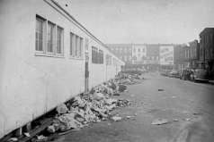 Garbage along Lafayette Market, Baltimore, circa 1953. Paul Henderson, HEN.00.A2-271.