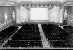 Interior view of theater. Auditorium seating. Regent Theatre, 1619 Pennsylvania Avenue, Baltimore, circa 1948. Paul Henderson, HEN.00.B1-033.