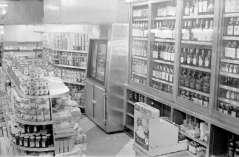 Interior view of grocery store, circa 1948. Paul Henderson, HEN.00.B1-122.