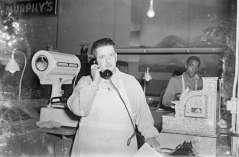 Murphy's grocery or delicatessen, circa 1949. Paul Henderson, HEN.00.B1-123.
