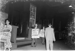 Protesting Ford's Theatre Jim Crow admission policy. Paul Henderson, ca. 1951. MdHS, HEN.00.A2-211.