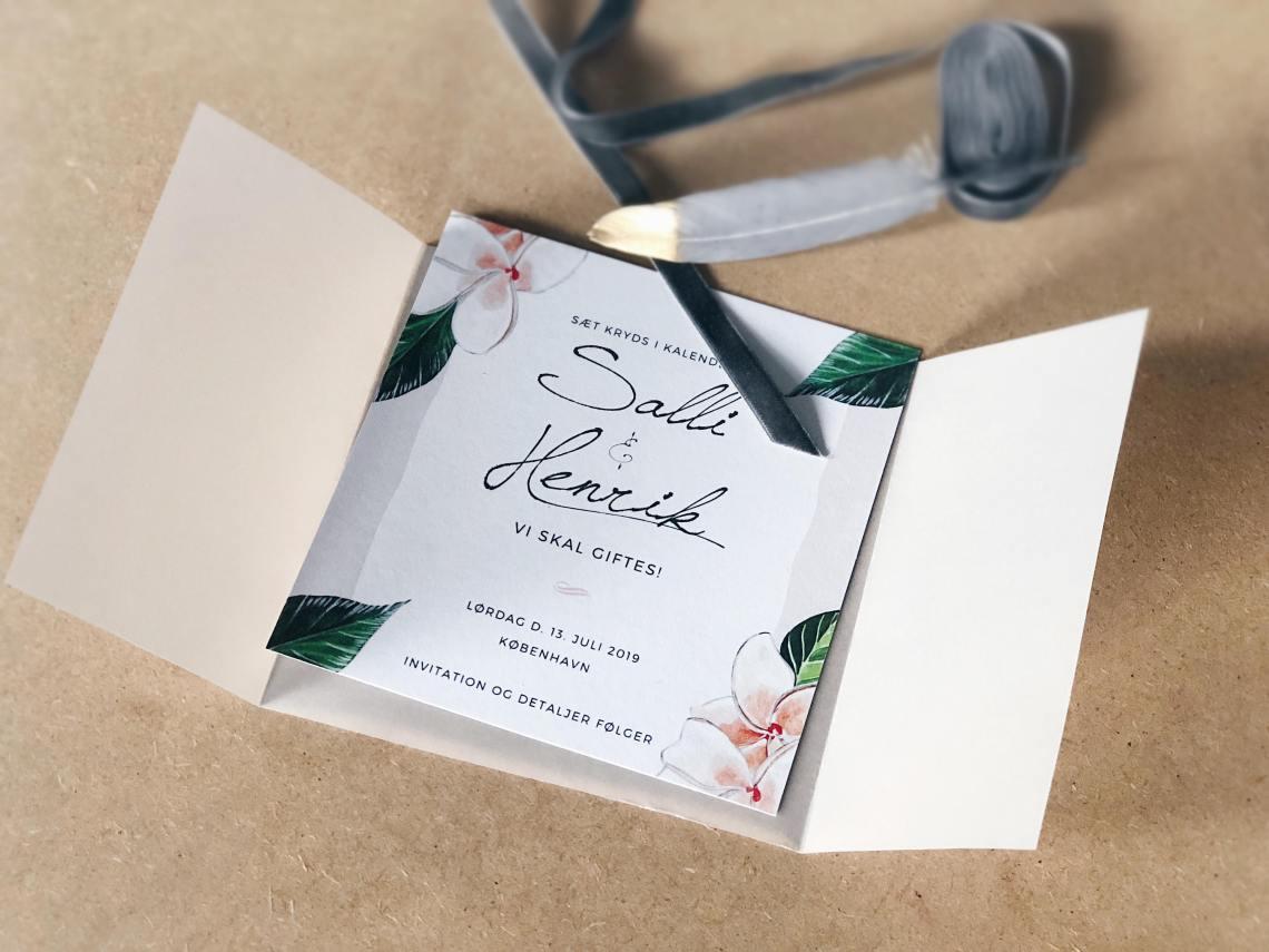 Save the date til vores bryllup - DIY