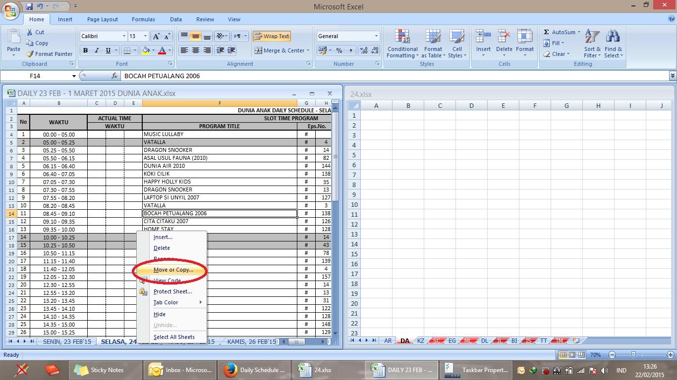 Cara Copy Paste Work Sheet Pd Ms Excel Agar Format Tidak