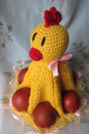 Pollo lavorato a maglia - stand per uova