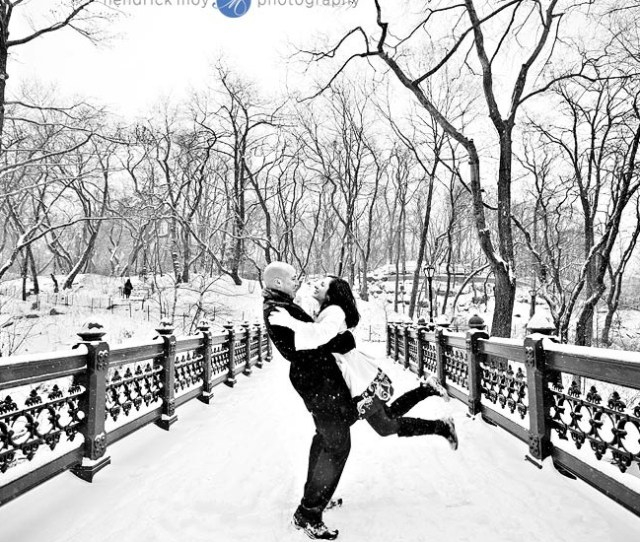 Polly And Joshs Snowy Central Park Engagement Session Nyc Ny Wedding Photographer
