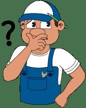Comic Handwerker - Hendricks - Einbauhilfe