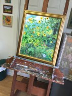 Sunflowers, one of Barrick's themes