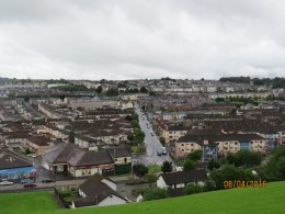 View of Derry from the top of the wall
