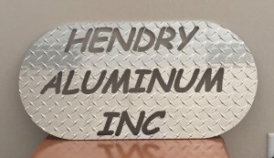 Plasma Cut Hendry Aluminum Sign