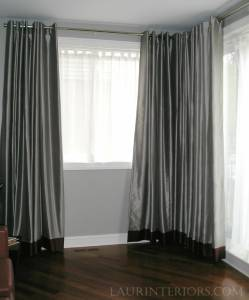 CUSTOM DOUBLE TREATMENT- TAB TOP SHEER & GROMMET DRAPERY