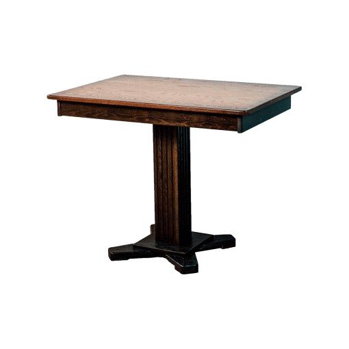 26x38-burnt-edge-dinette-table-with-drawer-and-four-fluted-pedestal