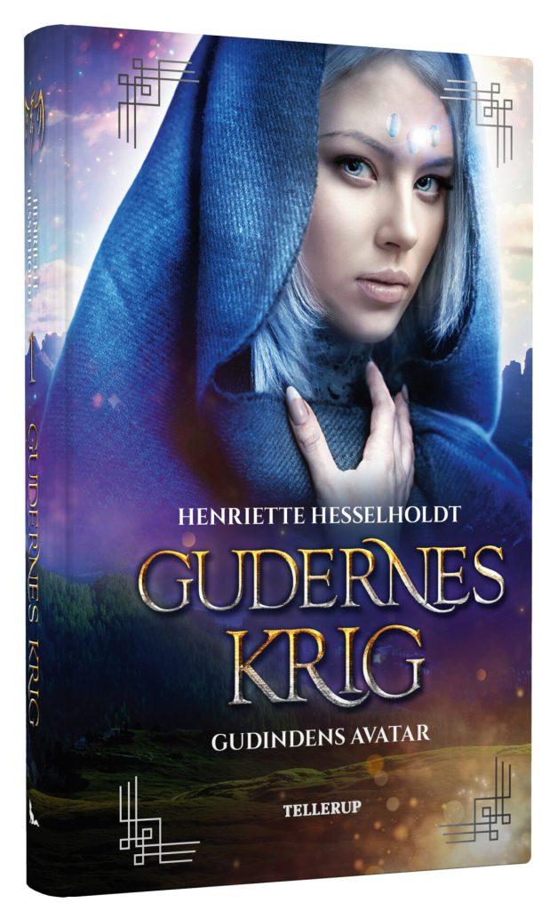 Omslag til Gudindens avatar, første bog i Gudernes krig