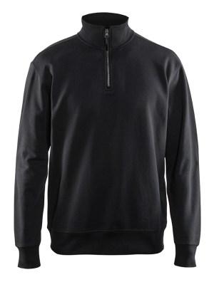 Sweatshirt met halve rits