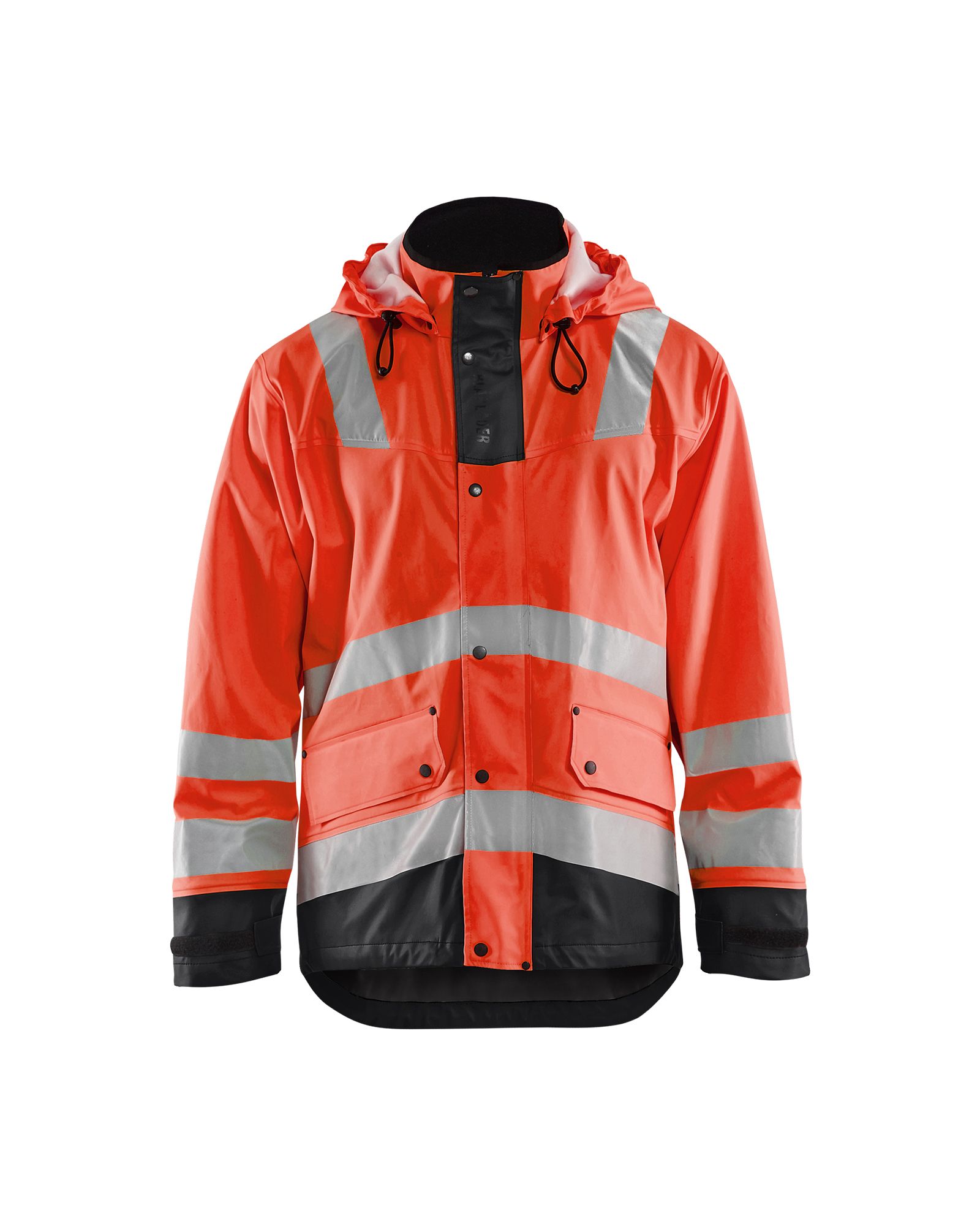 Regenjas Gevoerd High Vis Level 2