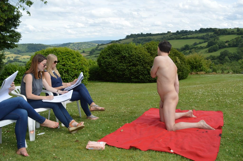 Life drawing outside