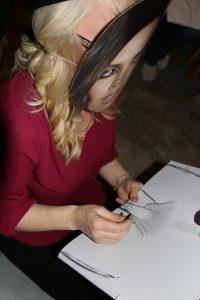 Artist Victoria Beckham lookalike