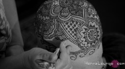 """Darcy completing the henna for the film """"Blank Canvas"""""""