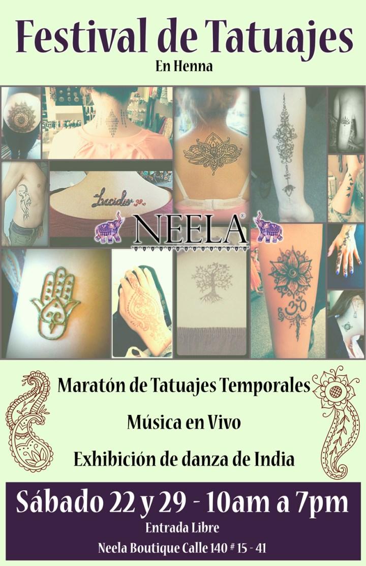 El sábado festival de Henna, música y danza en Neela