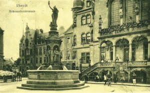 Marktplatz Hohenzollernbrunnen 1910